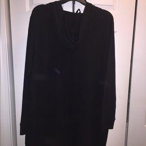 Long sleeve sweatshirt with hood dress